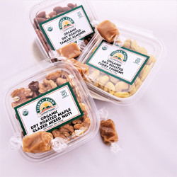 Sea Salt Caramels with Organic Dry Roasted Flavored Nuts