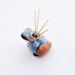 Fair Trade Hand Painted Ceramic Frog Toothpick Holder from Guatemala