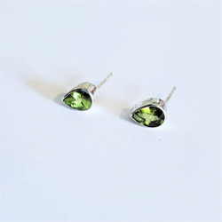 Fair Trade Peridot and Sterling Silver Earrings from Nepal