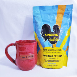 Fair trade french dark roasted coffee from Haiti