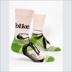 Bike Path Crew Socks for Men
