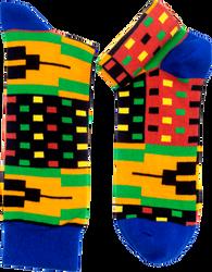 Tro-tro kente pattern cotton socks from Ghana