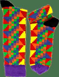 Fair trade Comot cotton kente pattern socks from Ghana