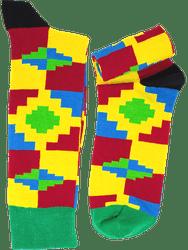 Onaapo kente pattern cotton socks from Ghana