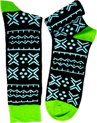 Fair trade Godiya cotton kente pattern socks from Ghana