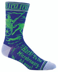 Hark to the Microbrewery Crew Socks for Men