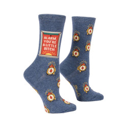 Alarm You're a Little Bitch Crew Socks for Women