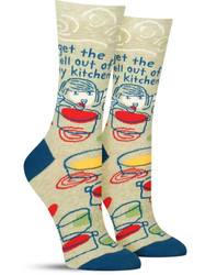 Get the H**l Out of my Kitchen Crew Socks for Women