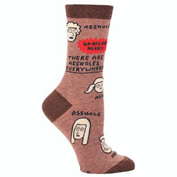 There are A**holes Everywhere Crew Socks for Women
