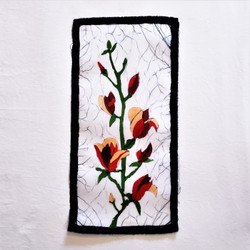 fair trade batik magnolia wall art from nepal