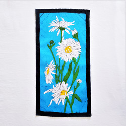 fair trade batik marguerite daisy wall art from nepal