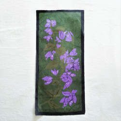 fair trade batik bougainvillea wall art from nepal