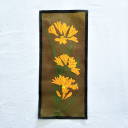 fair trade batik orange lily floral wall art from nepal