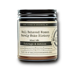 malicious women well behaved women soy candle in a jar