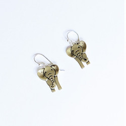 Fair trade sterling elephant earrings from Mexico