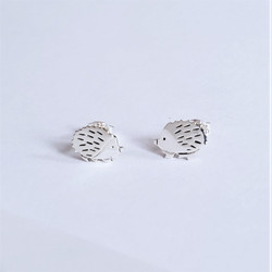 fair trade sterling silver hedgehog post earrings from Mexico