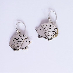 fair trade sterling silver hedgehog earrings from Mexico