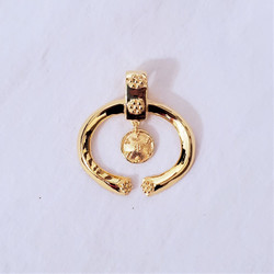 fair trade gold plated grecian style pendant from India