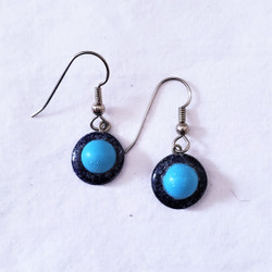 fair trade lapis and turquoise earrings from Afghanistan