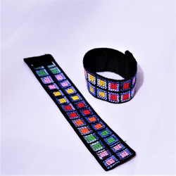 fair trade cross stitch bracelet from the holyland