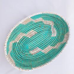 fair trade oval prayer mat basket bowl from Senegal