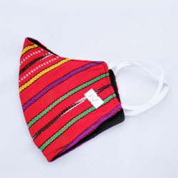 fair trade reusable ikat cotton duckbill face mask from guatemala