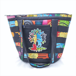 Fair trade tree of life fabric tote bag from Senegal