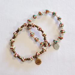 Fair trade clay bead stretch bracelet from Haiti