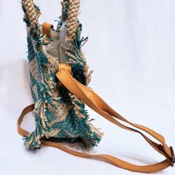 fair trade jute cross body purse from Bangladesh