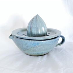 fair trade ceramic citrus juicer from Cameroon