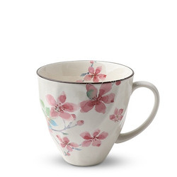 Fair trade pink cherry blossom flower ceramic tea cup from Japan