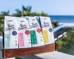 Fair Trade organic travel size light, medium, dark roasted coffee sampler from Nicaragua