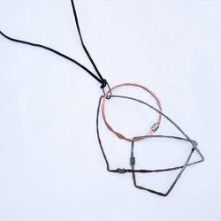 fair trade recycled metal long dangle necklace from Lesotho