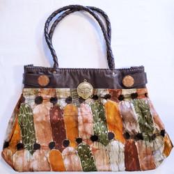 fair trade batik cotton and leather purse from burkina faso