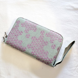 Fair trade screen printed cotton canvas wallet and credit card holder from Cambodia
