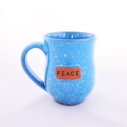 Fair trade ceramic peace mug from Haiti