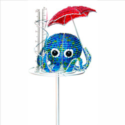 Fair trade beaded octopus rain gauge from Haiti