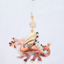 Fair trade mixed metal dragon ornament from Thailand