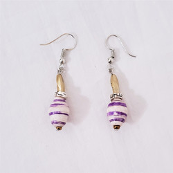 Fair trade paper bead earrings from Uganda