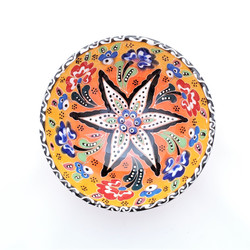 Fair trade relief style hand painted bowl from Turkey