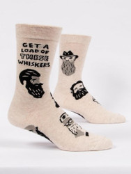 Get a Load of These Whiskers mens crew socks by BlueQ