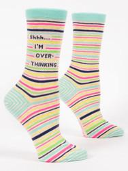 shhh...I'm overthinking womens crew sock from BlueQ