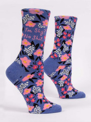 I'm shy? No shit womens crew socks BlueQ