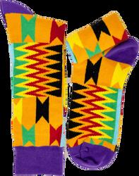 Fair trade Boga cotton kente pattern socks from Ghana