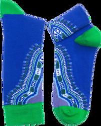 Fair trade Oga kente pattern cotton socks from Ghana