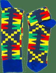 Fair trade Apuskeleke cotton kente pattern socks from Ghana