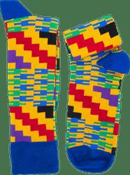 Fair trade Akwaaba cotton kente sock from Ghana