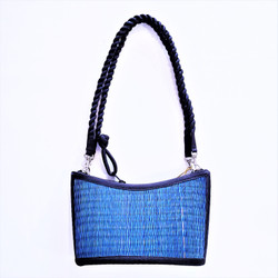 fair trade woven reed purse from Cambodia