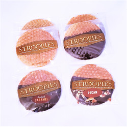 Plain, chocolate dipped, pecan, sea salt Stroopwafel