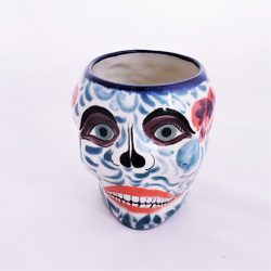 Fair Trade Hand Painted Ceramic Sugar Skull Mug from Guatemala